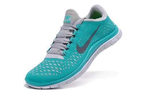 new products 9fd4d 1d9a2 Nike Free 3.0 V4 Mens Running Shoe New Green Reflect Silver Pure Platinum