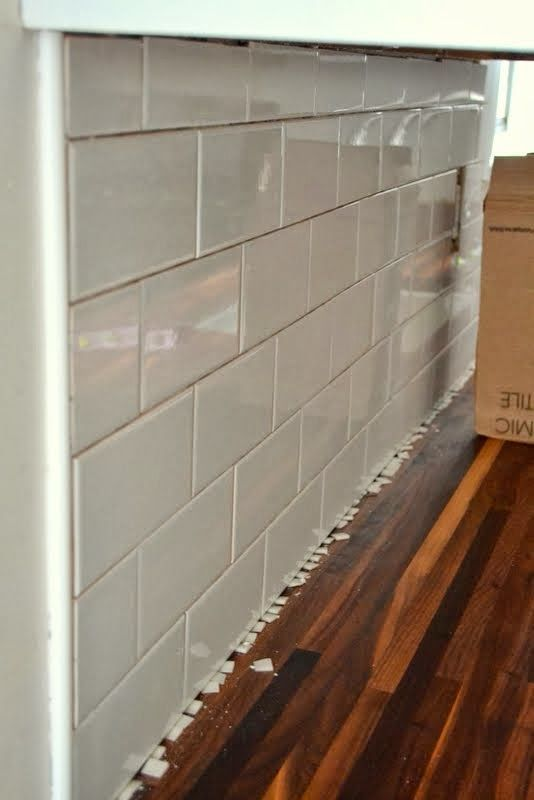 How To Tile A Kitchen Backsplash With Subway Over Drywall Covers Prep Materials And Time Saving Tips