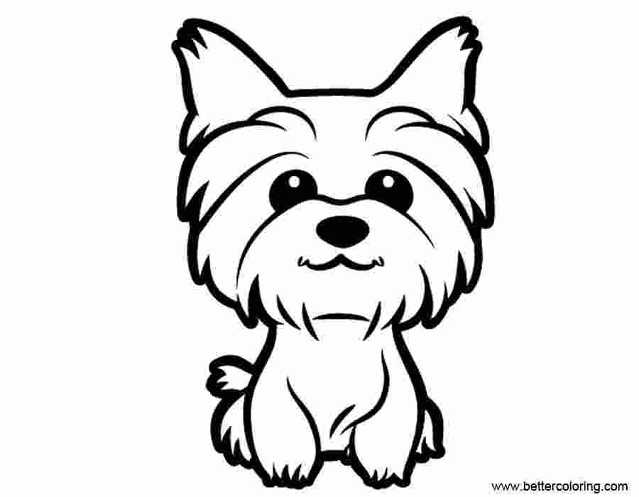Free Yorkie Puppy Coloring Pages In 2020 Puppy Coloring Pages Dog Drawing Dog Coloring Page