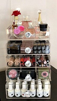 The Beauty Cube By Acrylic Makeup Organizers Save Of Our - Acrylic cube makeup organizer with drawers