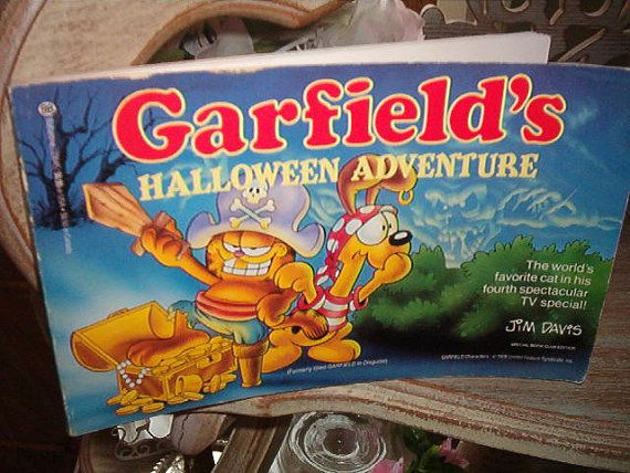1985 First Edition Garfield S Halloween Adventure Book By Halloween Adventure Garfield Halloween Garfield