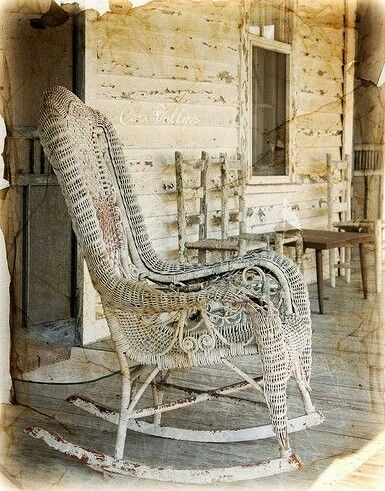 Old Wicker Rocking Chairs On Old Porches. This Looks Like To One That My  Great Grandmother Had.
