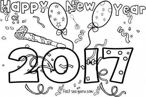 New Years 2017 coloring page for kids... - http://designkids.info/new-years-2017-coloring-page-for-kids.html New Years 2017 coloring page for kids #designkids #coloringpages #kidsdesign #kids #design #coloring #page #room #kidsroom