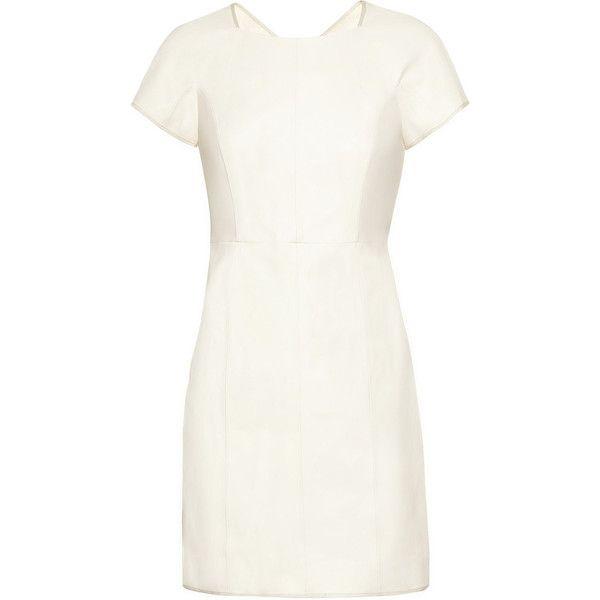 1c65707249f4 Theyskens  Theory Dazal Leather Mini Dress ( 895) ❤ liked on Polyvore