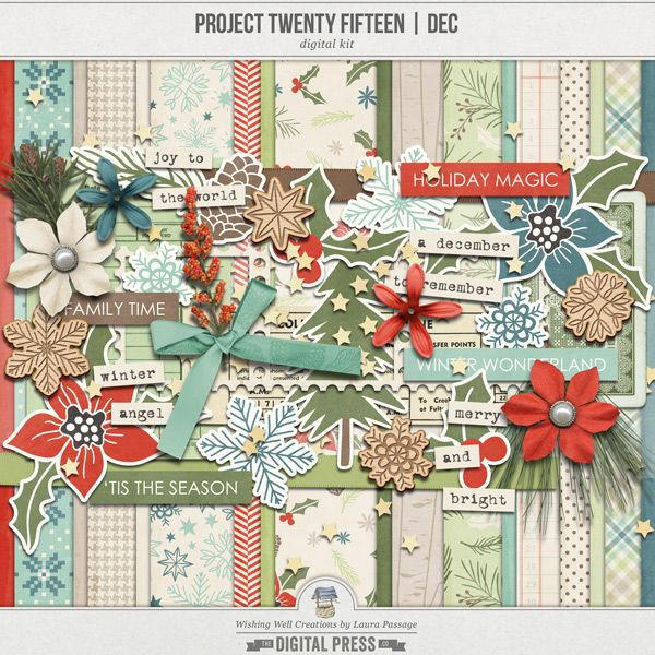 """Creations By Laura: December Kit By """"Wishing Well"""