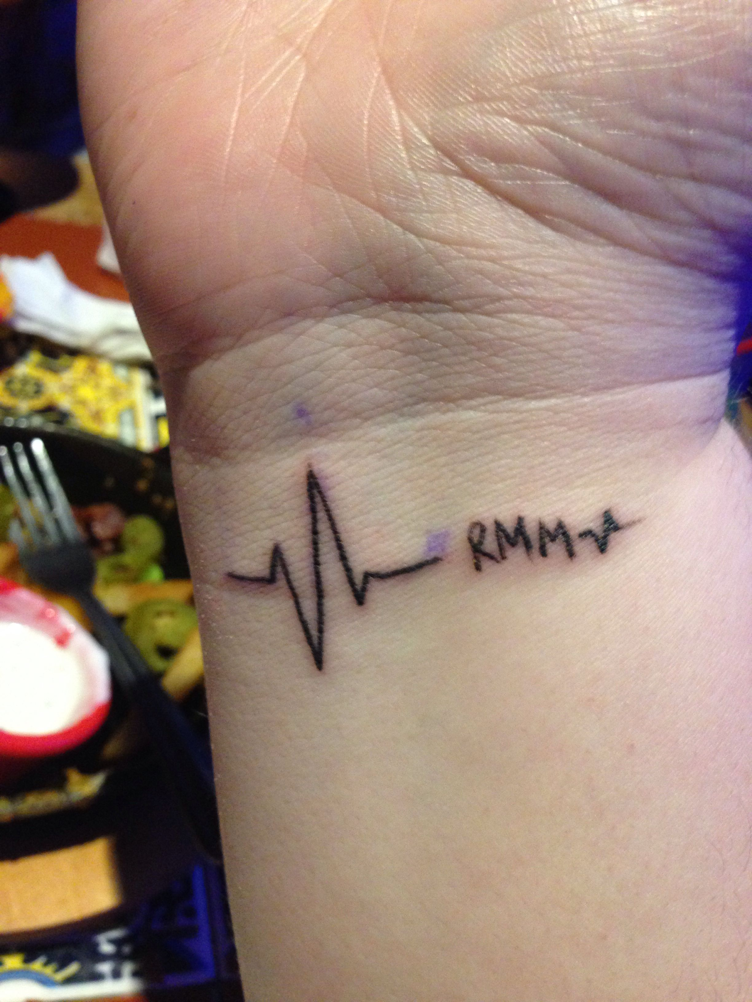 Tattoos On The Heart Quotes: My Tattoo For My Grandfather. His Heart Beats With Mine