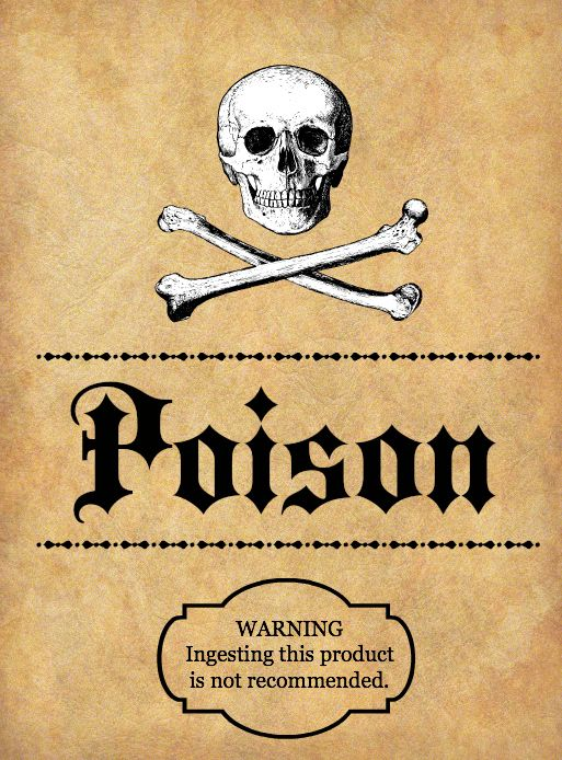 photograph relating to Free Printable Halloween Poison Bottle Labels known as Halloween Spooky Potion Bottle labels with Totally free Printables