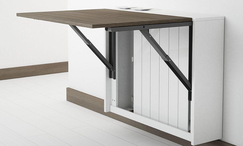Achat Table murale rabattable en mélaminé - Block, Table petit espace chez  4 Pieds. La table pliante murale Block est idéale pour les petits espaces. df0e0783bb64