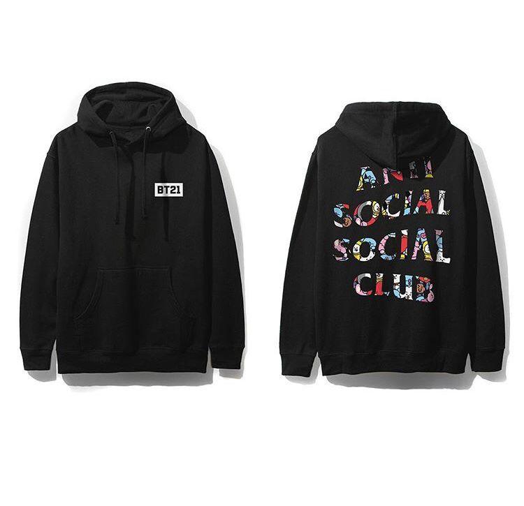 Bt21 X Assc Anti Social Social Club Hoodie Hoodies Anti Social Social Club