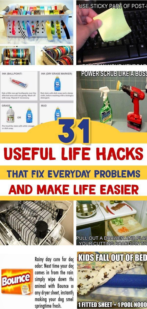 Useful Life Hacks {MIND BLOWN!} - 31 Good To Know Life Tips & Household Hacks That WILL Make Life Easier #householdhacks