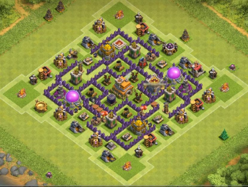 25+ TH7 Trophy Base Link 2020 (New!) | Latest Anti... | Trophy base, Clash  of clans hack, Clash of clans game