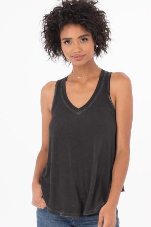 Z Supply Clothing Womens The Vagabond V Neck Tank Top Large White