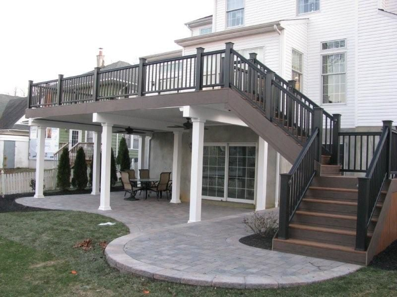Can I Add A Welled Walk Out To My Basement Precision Decks | Two Story Deck Stair Designs | Building | Modern | House | Decking | Split Level