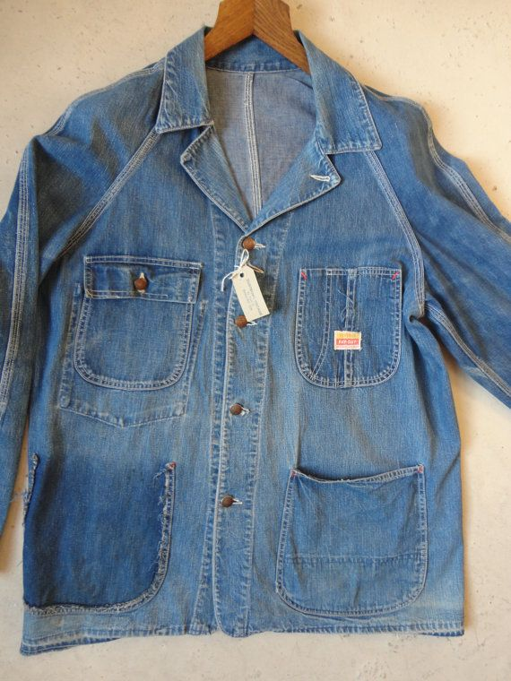 Vintage 1950s Pay Day JC Penneys denim chore by TheDustbowlVintage, £80.00