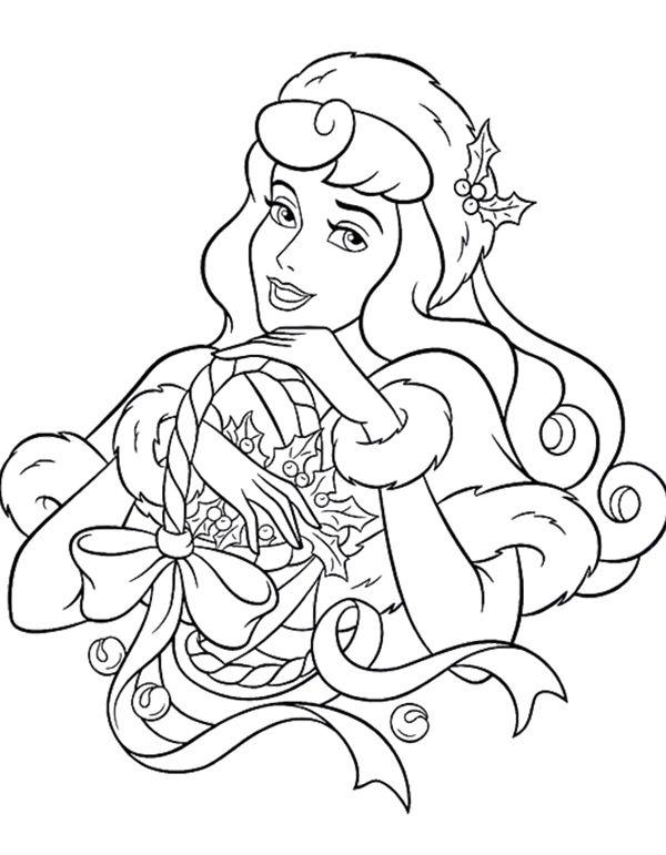 Disney Princess Christmas Coloring Page | Christmas Fun | Pinterest ...