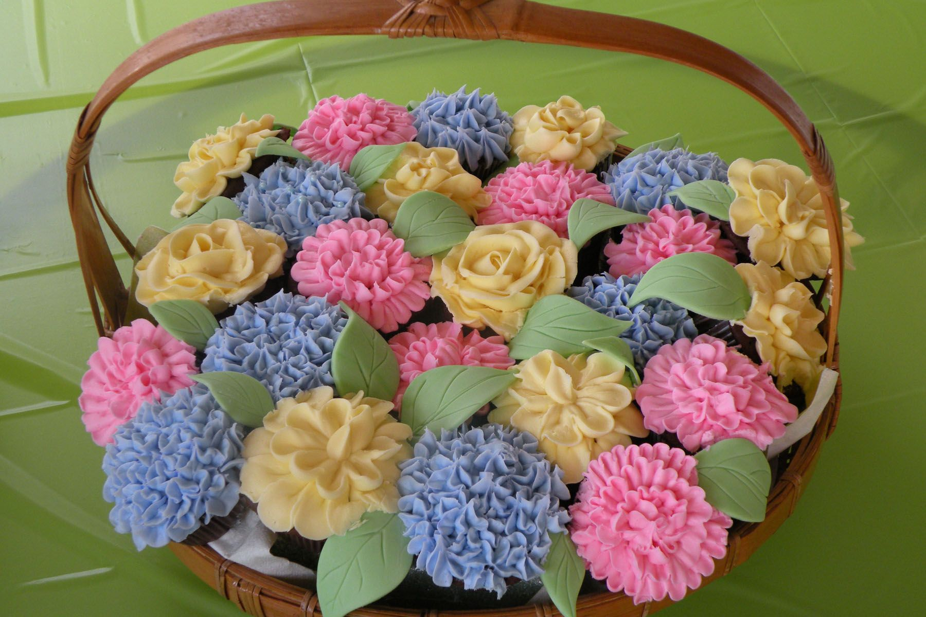 How To Make Flower Basket Cupcakes : Cakes for women on