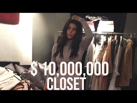 Kim Kardashian's Ten Million Dollar Closet Tour 2017 ...