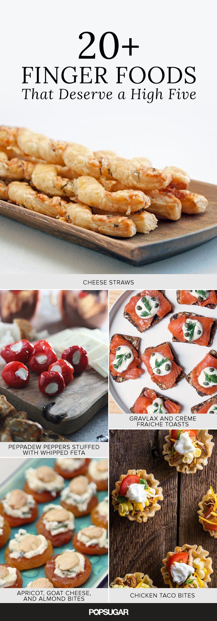 25 finger foods that deserve a high five party food and planning pinterest essen und. Black Bedroom Furniture Sets. Home Design Ideas
