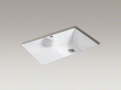 Whoa, this sink is cool. Kohler High/Low Bowl Undermount Kitchen Sink.