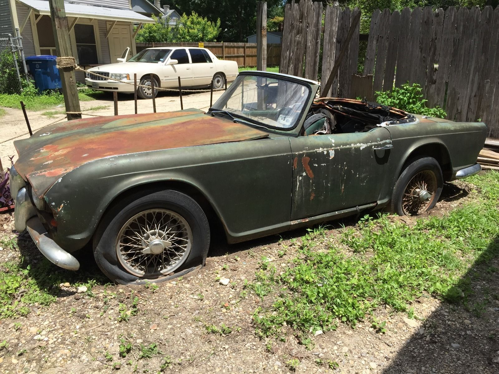 1961 Triumph TR4 Car for Parts Perfect Restoration Source