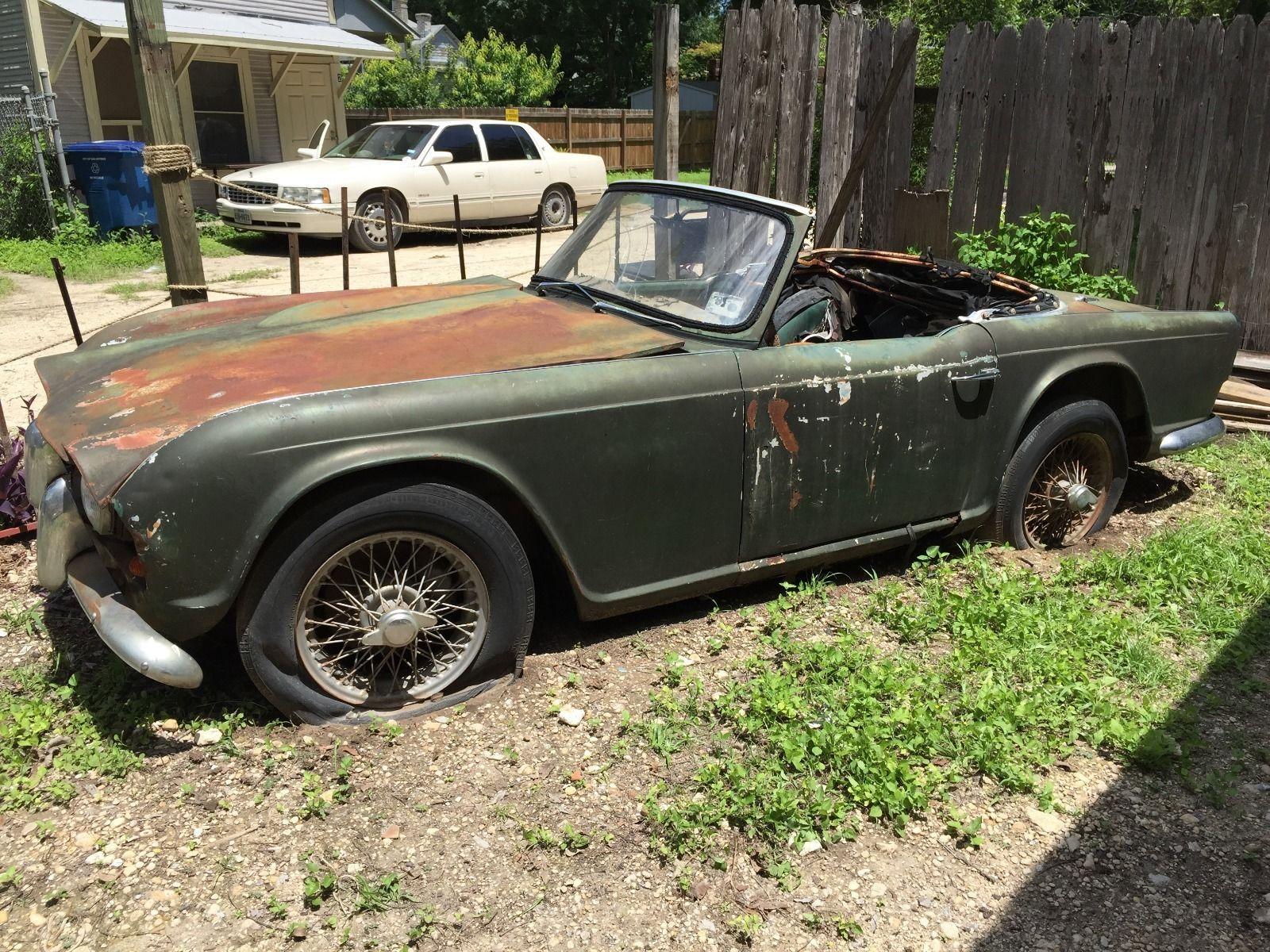 1961 Triumph TR4 Car For Parts Perfect Restoration Source