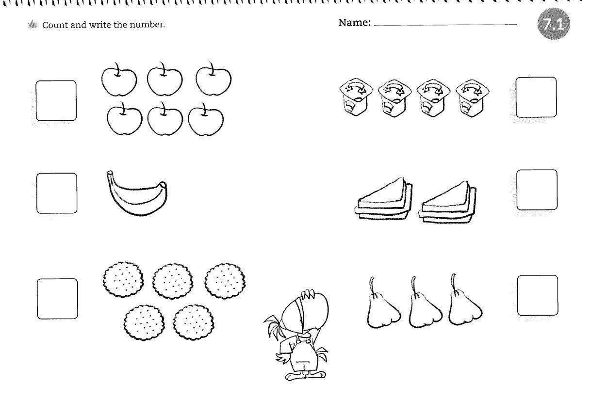 Worksheets for 4 Year Olds Counting | lekcje z dziećmi | Pinterest