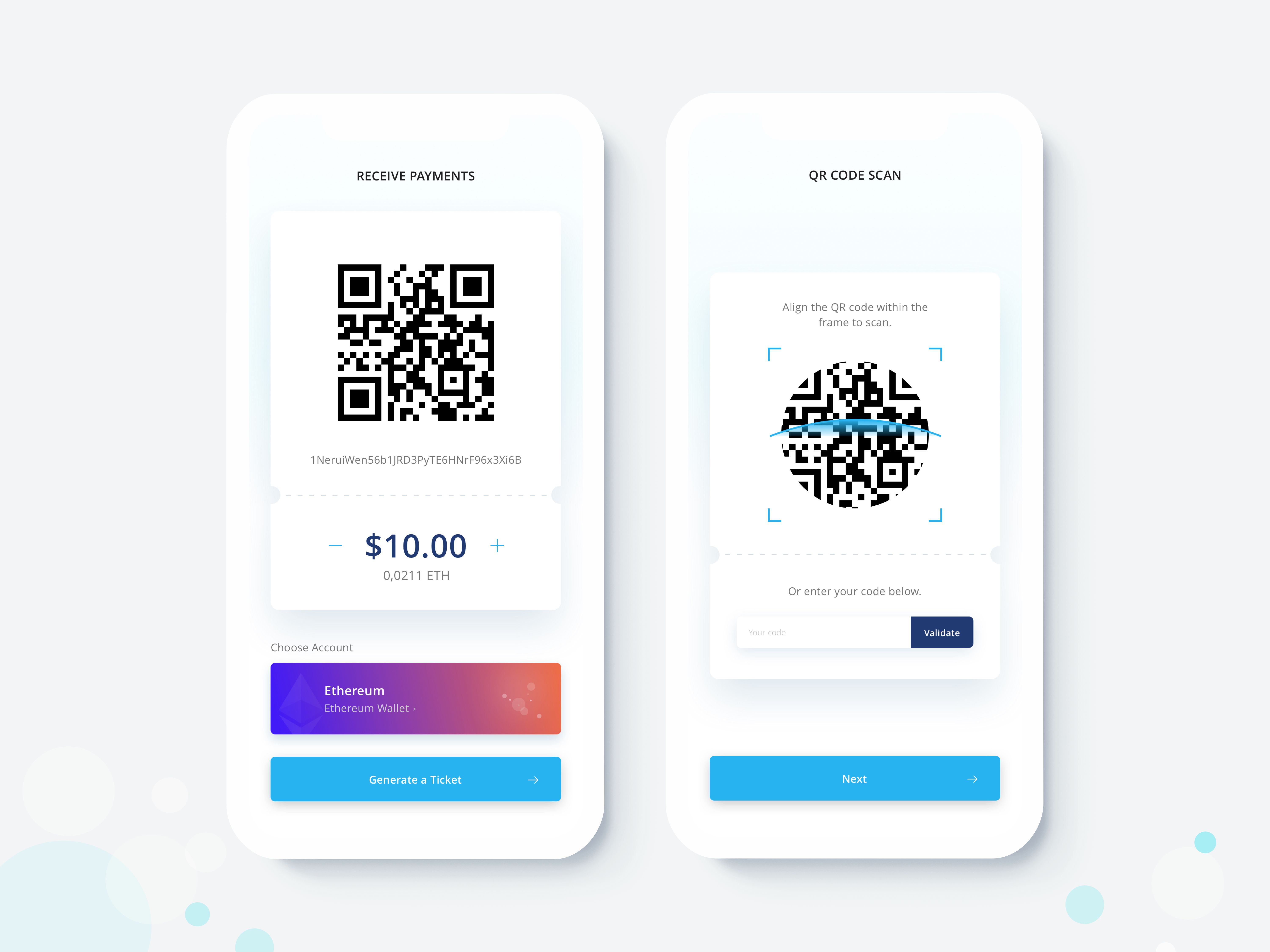 Crypto qr code scan light Coding apps, Qr code, Coding