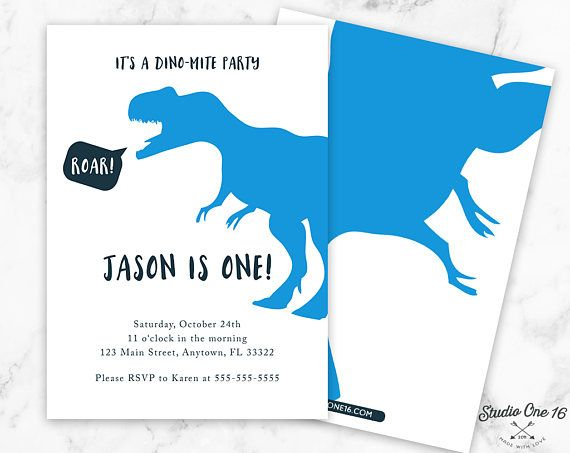 Dinosaur Birthday Invitation Party Invite Invitations Dino