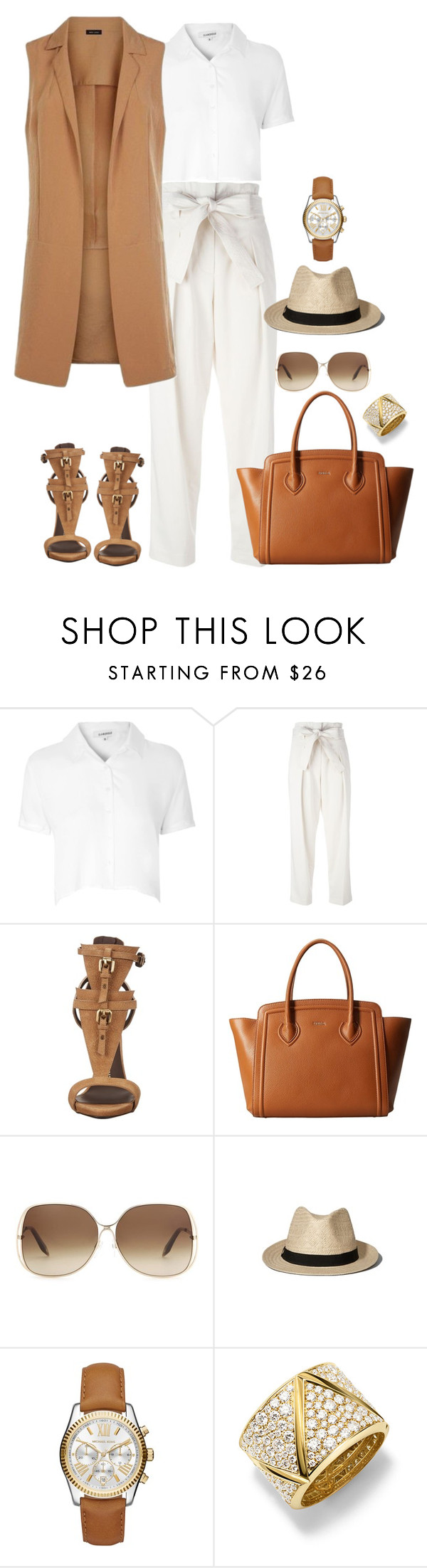 """Style#1015"" by mussedechocolate ❤ liked on Polyvore featuring Glamorous, 3.1 Phillip Lim, Giuseppe Zanotti, Furla, Victoria Beckham, Abercrombie & Fitch, Michael Kors, Marina B, women's clothing and women"