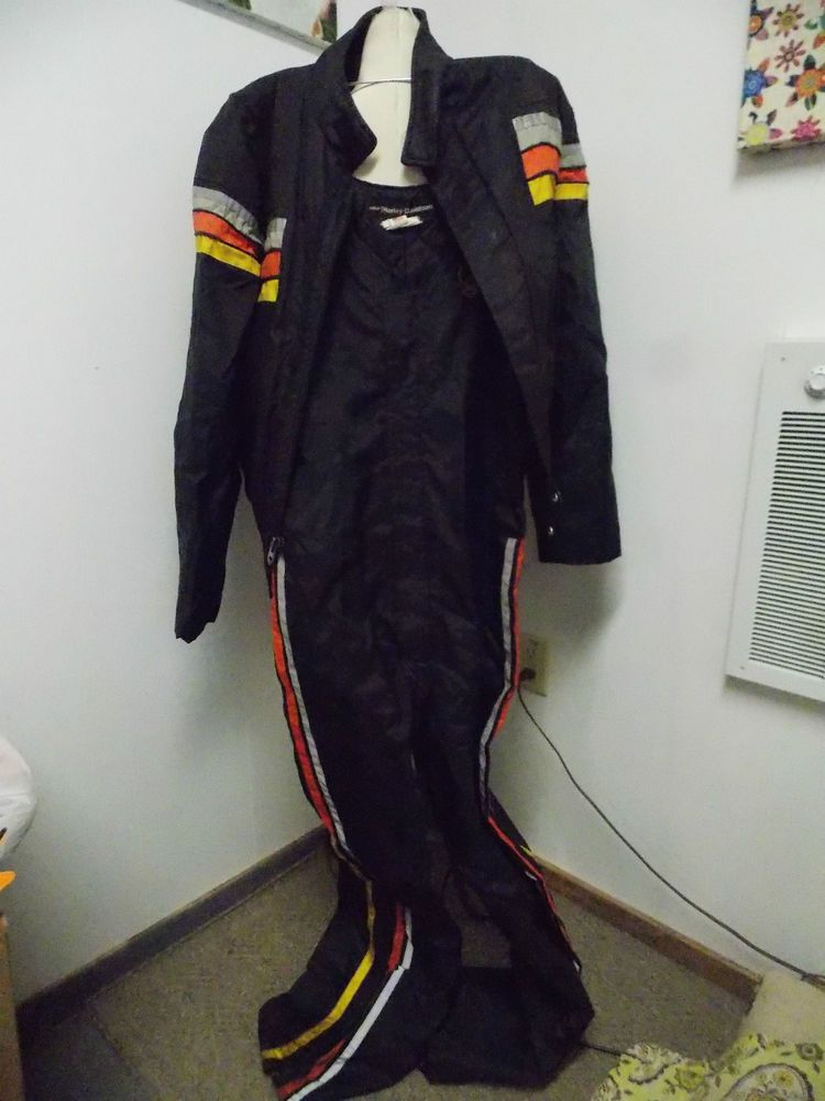 Vintage 1970's Mens AMF Harley Davidson Matching Riding Set Nylon Jacket & Pants #HarleyDavidson #other