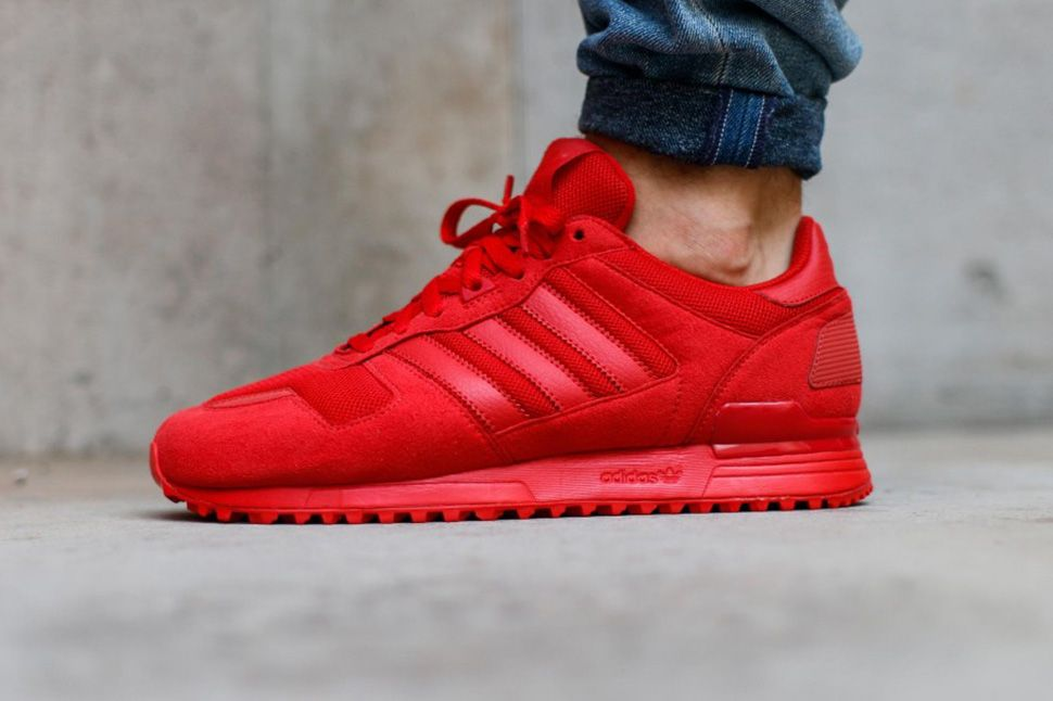 adidas ZX 700 Triple Red | Bangs | Adidas zx 700, Red