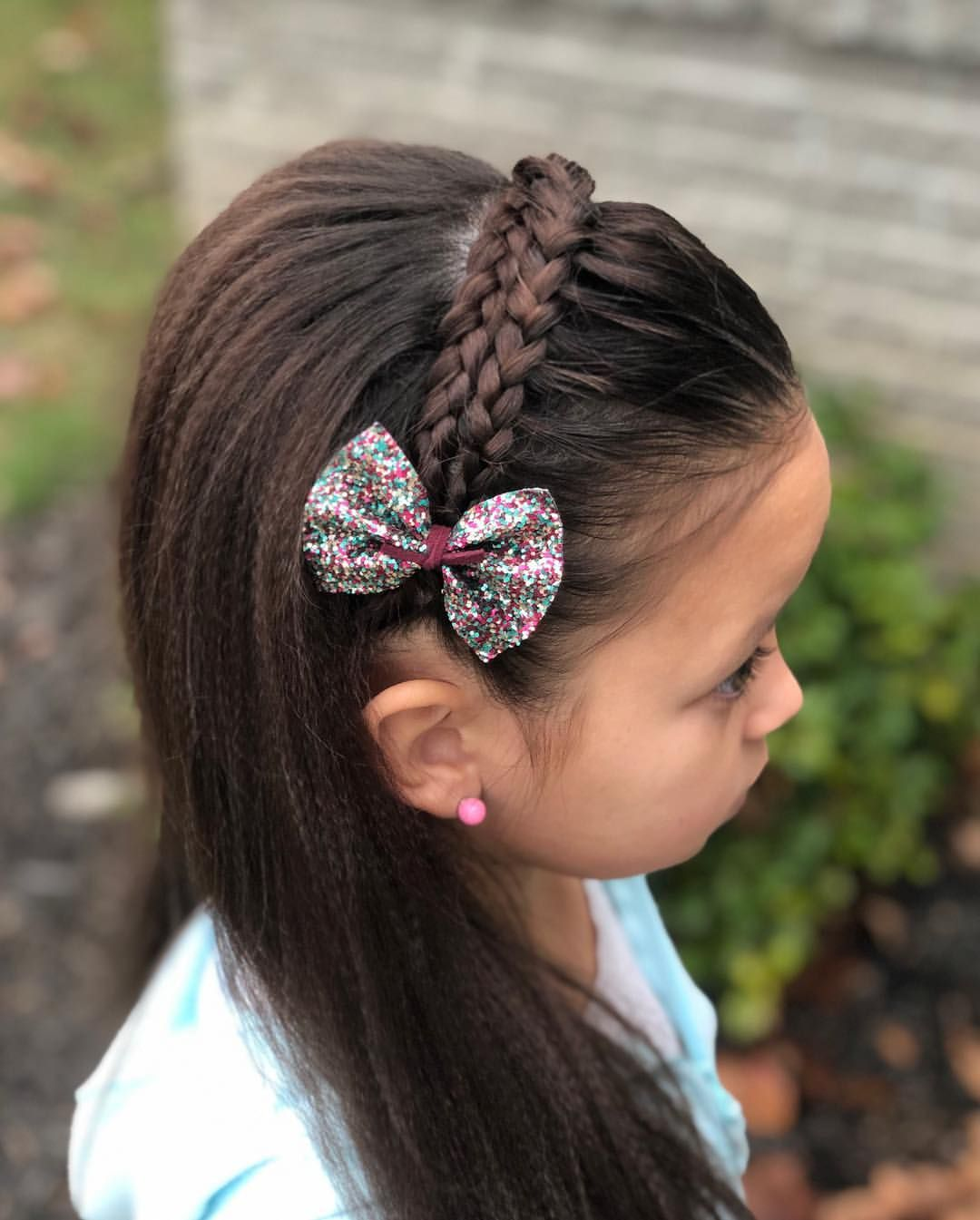 "Amber 🎀🌸💜 On Instagram: ""Today We Are Joining Littleblondiesbraids Feed Follow Theme Lilblondielovesheadbands We Did Dutch Lace Braids And Crossed Them Over Each…"" - Hair Beauty"