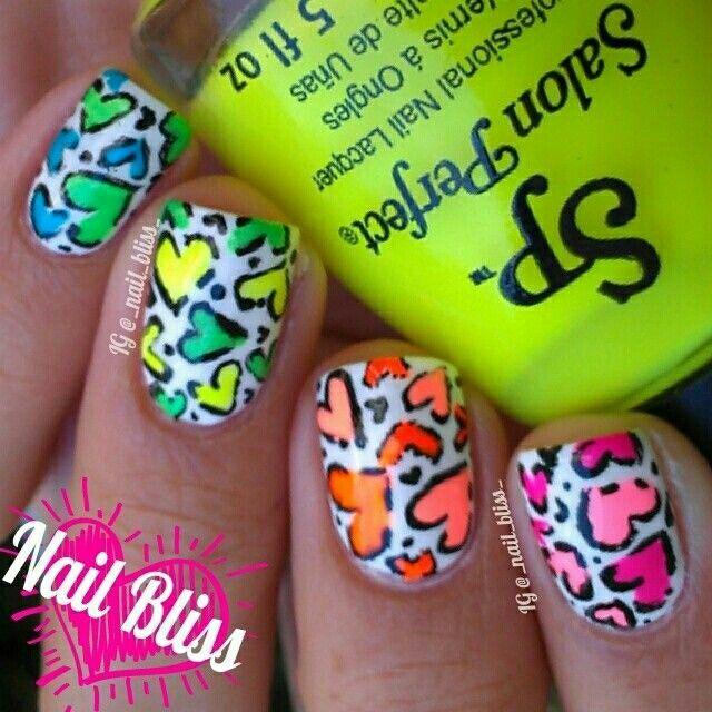Сердечки | Makeup and manicure | Pinterest