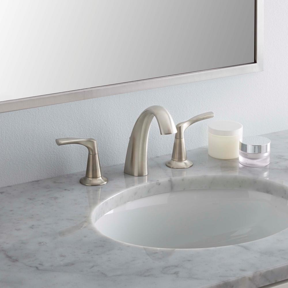Kohler Mistos 8 In Widespread 2 Handle Water Saving Bathroom Faucet In Vibrant Brushed Nickel Bathroom Faucets Save Water Faucet [ 1000 x 1000 Pixel ]
