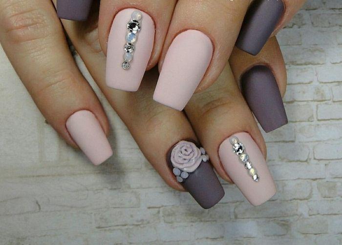 Nageldesign Rosa Matt Nageldesign Nagel Pinterest Nails Nail