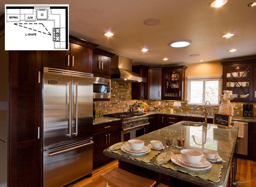 What Are The Most Efficient Kitchen Designs Builders Surplus L Shape Kitchen Layout L Shaped Kitchen Designs L Shaped Kitchen