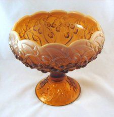 Fenton Lily of the Valley Cameo Opalescent Comport