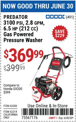 Predator Pressure Washer For 369 99