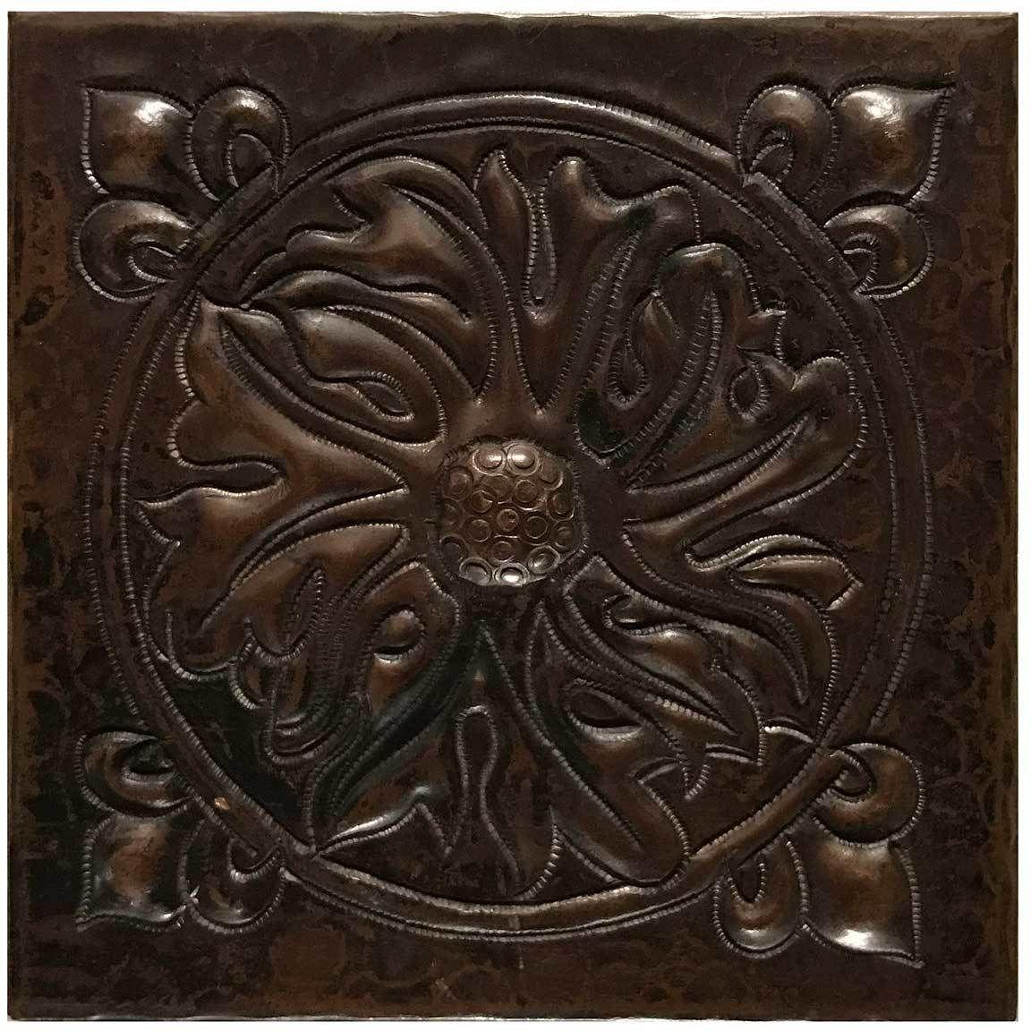 Attractive Www.coppersinksdirect.com   Copper Tile (TL229) Foliage Medallion Design,  $20.00