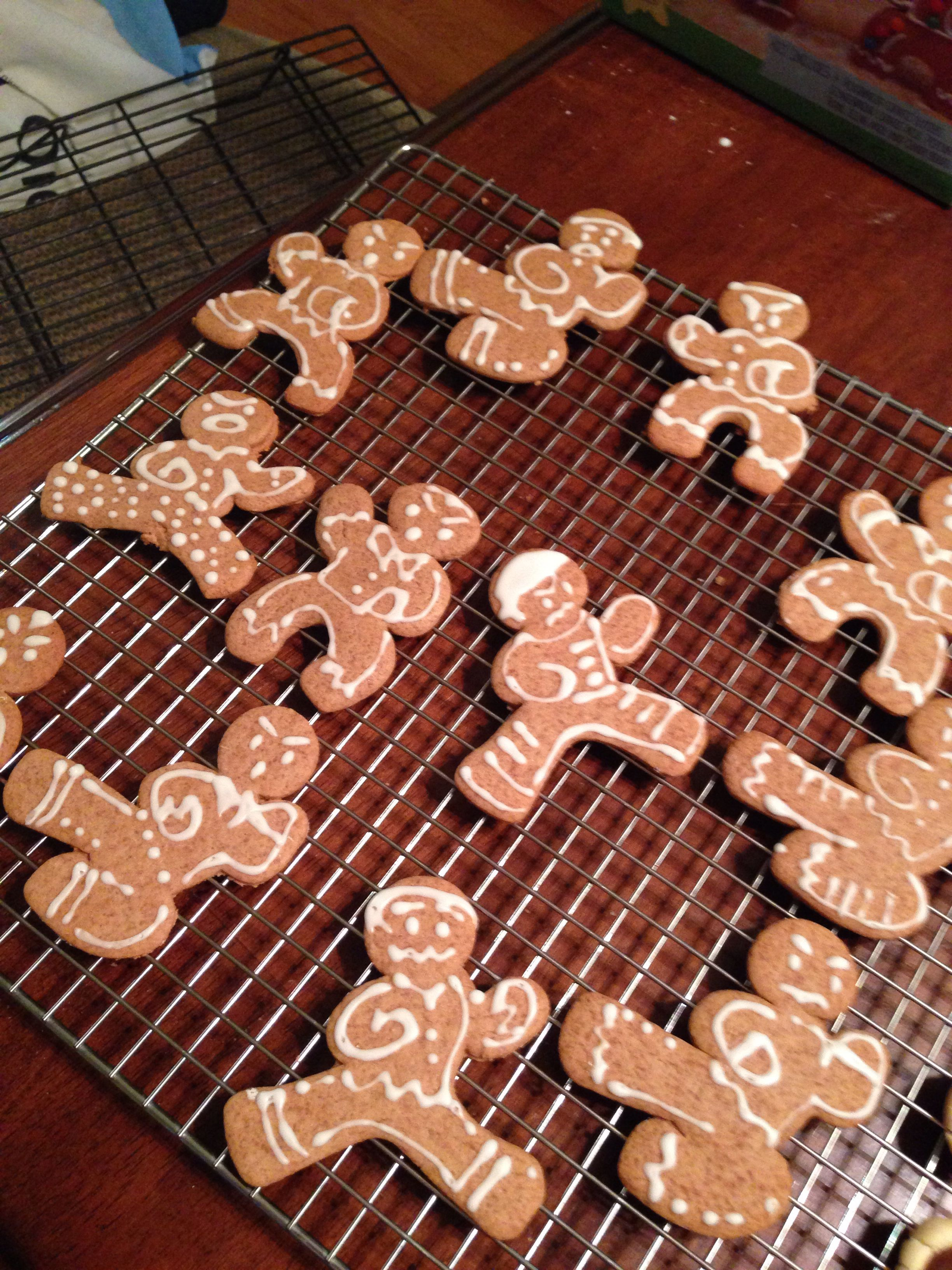 Ninjabread cookies!  Made with a kit by, In the Mix.