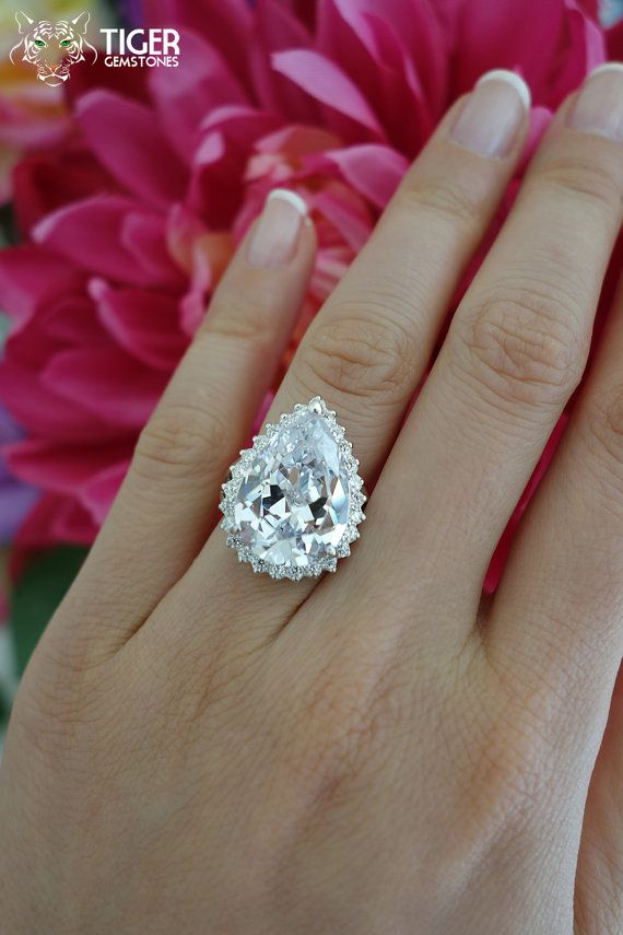 10 carat pear cut halo engagement ring old by. Black Bedroom Furniture Sets. Home Design Ideas