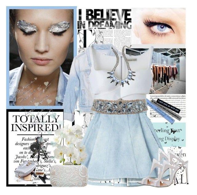 """denim spring :)"" by pelin ❤ liked on Polyvore featuring Tiffany & Co., Forever 21, Balenciaga, Balmain, DANNIJO, Miss Selfridge and Alejandro Ingelmo"
