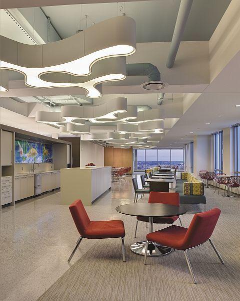 Work design magazine pendant chandelierpendant lightingworkplace designcommercial interiorsdesign