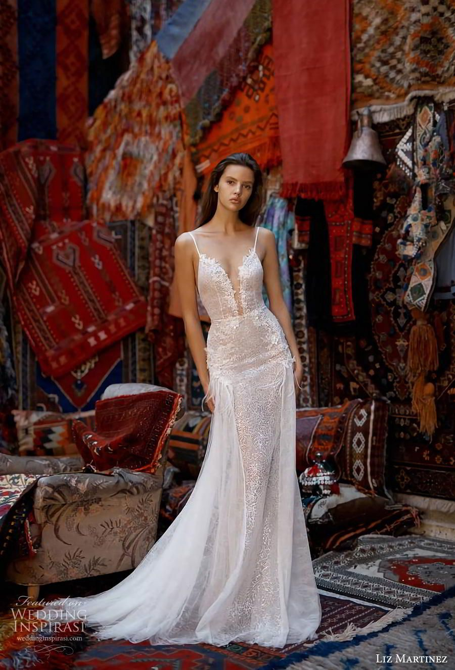 Lace wedding dress with back out january 2019 First Look Liz Martinez  ucCappadociaud Collection  Wedding