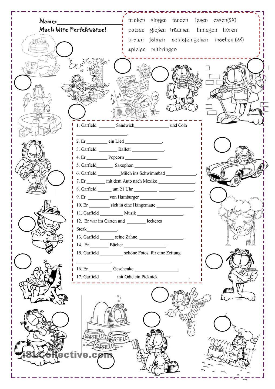 Perfekt mit Garfield | Deutsch, Grammatik und Schule