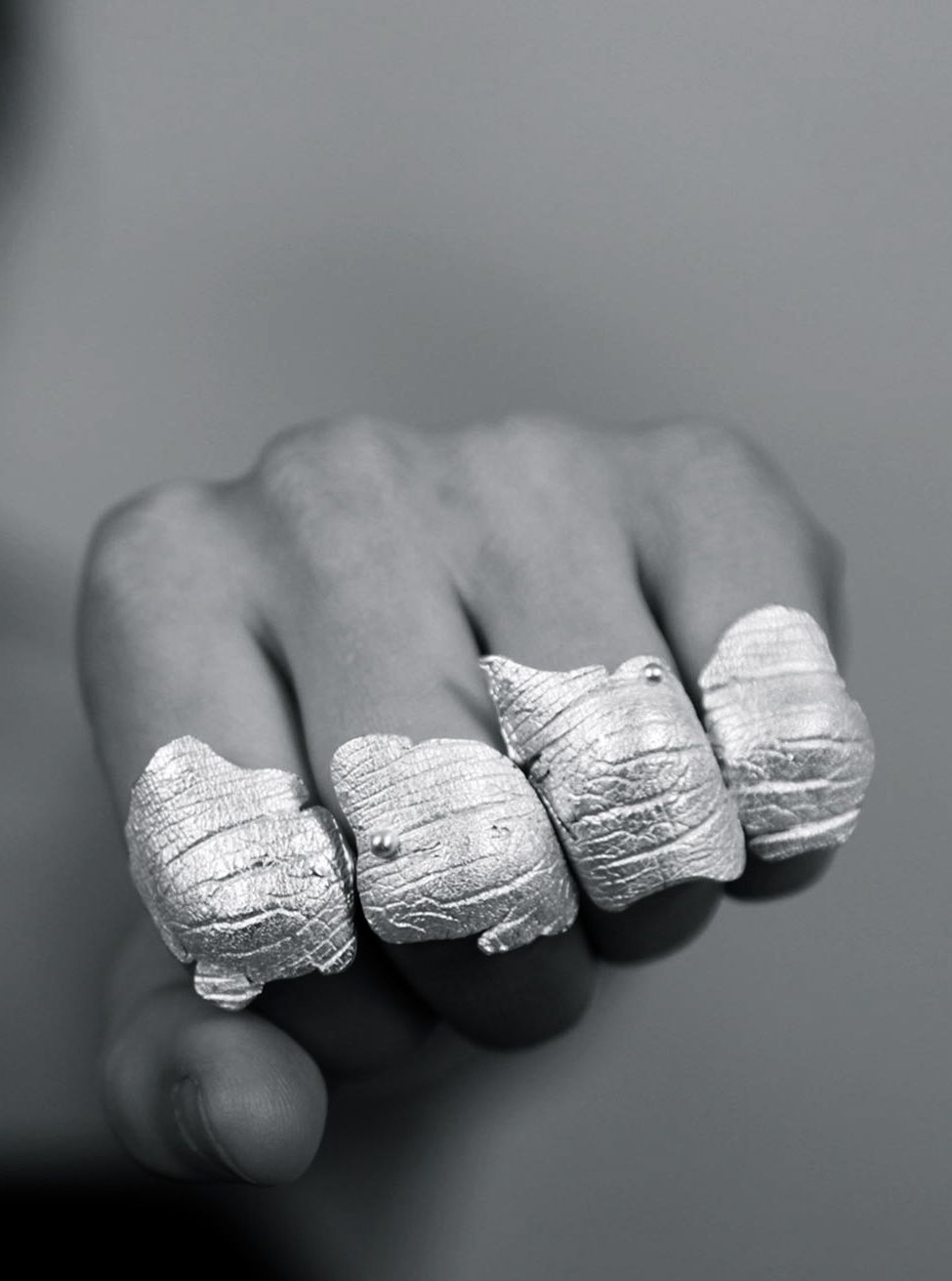 Silver | 銀 | Plata | Gin | Argento | Cеребро | Argent | Metal | Chrome | Metallic | Colour | Texture | Pattern | Style | Design | Composition | Photography | Hillarey Dees | Loved Ones Knuckles
