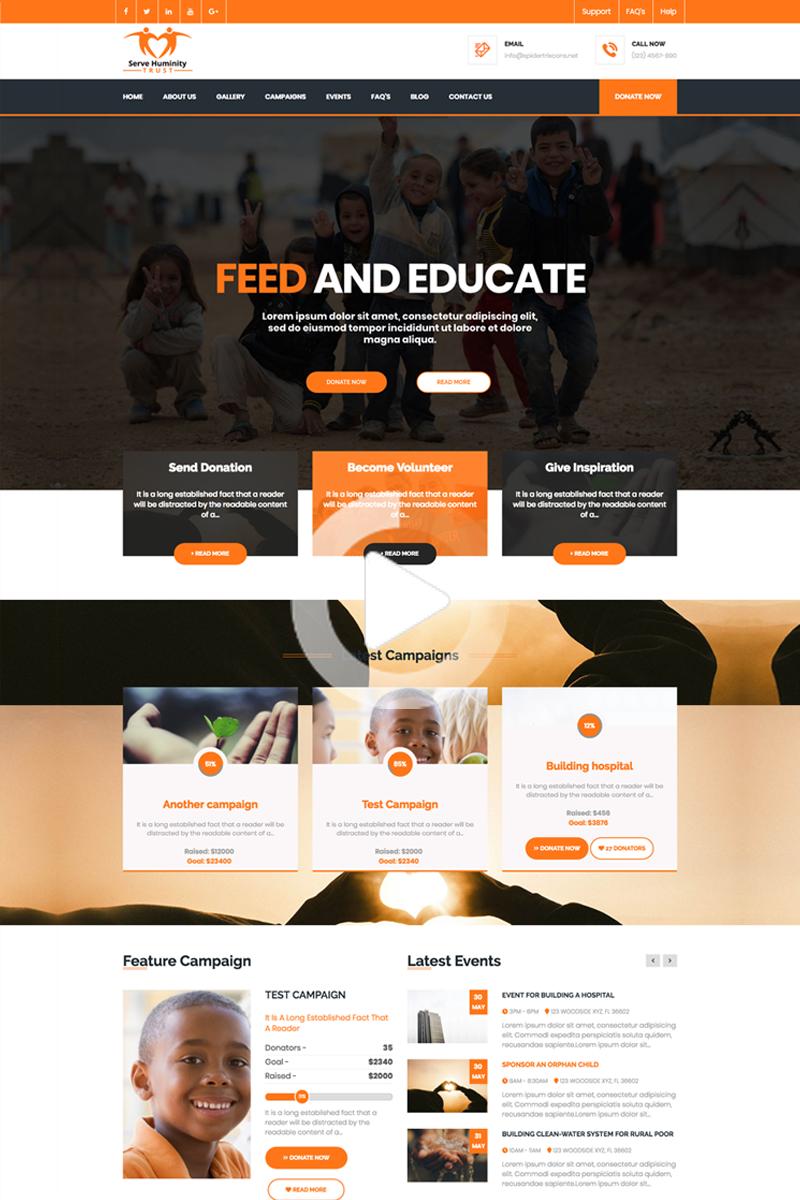 Servehman Nonprofit Charity Ngo Fundraising Joomla Template 72006 In 2020 Nonprofit Website Design Web Design Simple Web Design