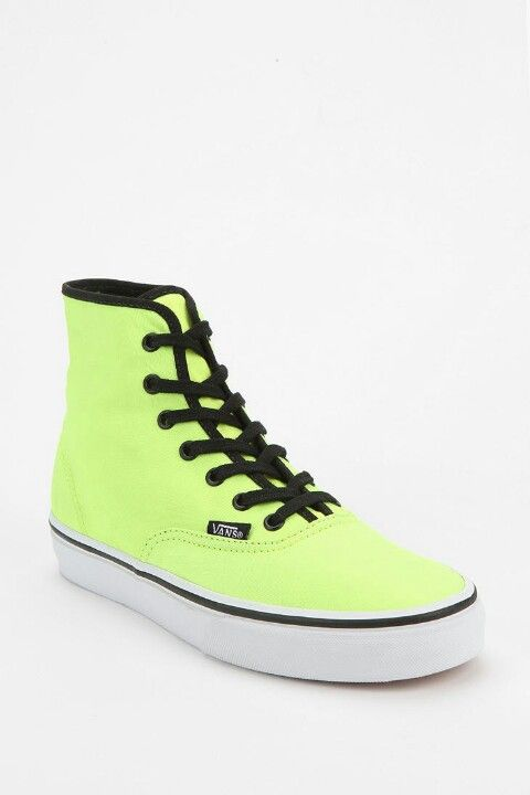 546c2a11f5 OMG hightop neon green vans ♥♥