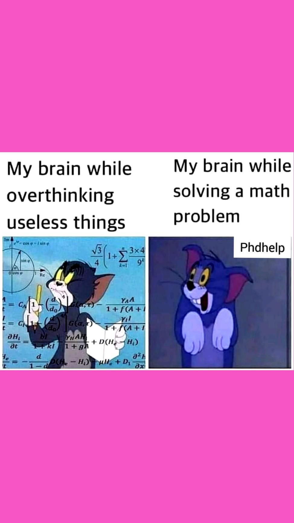 tom and Jerry overthinking