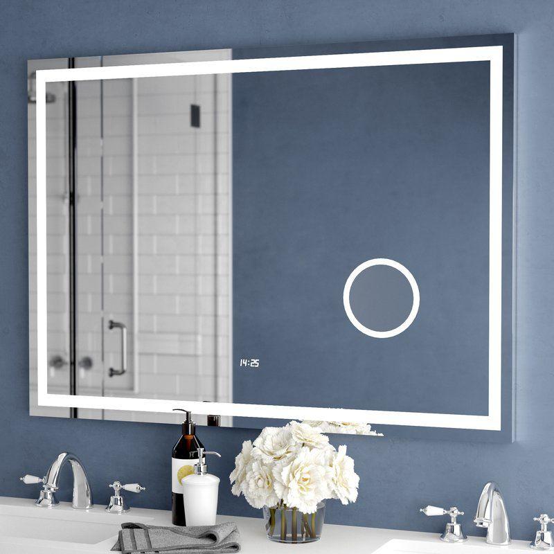 Electric With Clock Bathroom Vanity Mirror Bathroom Vanity Mirror Lighted Bathroom Mirror Led Mirror Bathroom